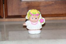 2008 Fisher Price Little People Blonde Bride with Bouquet