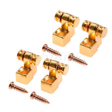 String Tree Retainer Roller Design for Strat Guitar Gold 2 Pairs