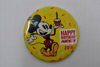 2018 Walt Disney World Parks Pin Happy Birthday Mickey Button 90th NEW