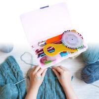 22Pcs Multi-colour Aluminum Crochet Hooks Needles Knitting Set Craft Yarn Tools