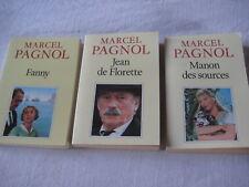 3 Livres Collection Fortunio Pagnol Jean de Florette, Manon des sources, Fanny