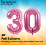 """Giant 30th Birthday Party 40"""" Foil Balloon Helium Air Decoration Age 30 PINK"""