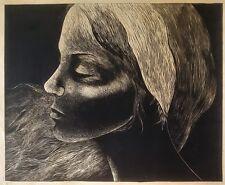 Cuban Art. Linoleo by Raimundo Orozco. Untitled, 1977. Linoleum on paper.