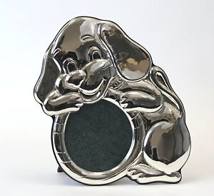 Italian Sterling Silver Baby/Kid's Picture Frame in Form of a Puppy/Dog