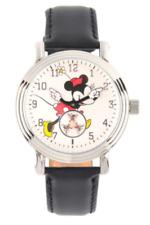 Disney Minnie Mouse Ladies' 38mm Vintage Subdial Silvertone Watch W002766