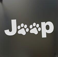 Jeep paws sticker dog Funny race car window decal