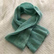 "Gap Teal Seafoam Green Mohair Knit Scarf EUC Super Soft 9x80"""