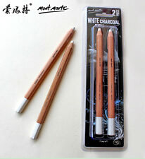 Mont Marte 2 Pcs White Charcoal Pencils Artist Drawing Sketching