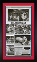 "2011 St Louis Cardinals Dispatch Newspaper Page ""Celebration"" Matted & Framed!"