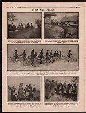 WWI Trenches Germany-Russia/Bike/ Isba Gypsies Tziganes /Tisza 1915 ILLUSTRATION