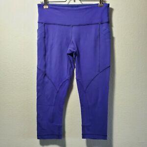 Lululemon Athlectica Womens Size 6 Yoga Athletic Running Capri Pants Purple