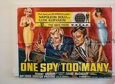 ONE SPY TO MANY ORIGINAL UK QUAD FILM POSTER ROBERT VAUGHN  THE MAN FROM UNCLE