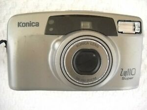 **1990`s KONICA Z-UP 110 SUPER 35mm FILM CAMERA POWERS UP BUT NOT FILM TESTED**