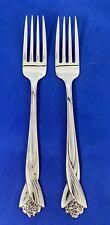 """Oneida KATRINA Dinner Forks 7 1/4"""" Stainless Flatware Set Of 2"""