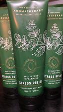 3 EUCALYPTUS SPEARMINT STRESS RELIEF BATH & BODY BODY WORKS BODY WASH