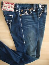 TRUE RELIGION BILLY SUPER T Damen Straight Leg Jeanshose Jeans Blau Gr.28 NEU