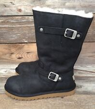 UGG Australia Big Kids Kensington Black Classic Tall Boots US 3 fits Womens 5