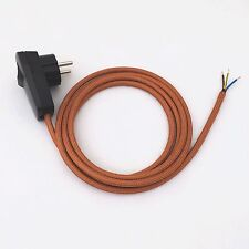 2 m câble textile de raccordement Cuivre avec Bouchon/Interrupteur