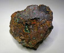Malachite in Tenorite crystal. Mount Lindsay mine, Cloncurry, Queensland.    S48