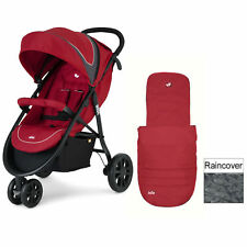 JOIE APPLE LITETRAX STROLLER 3 WHEELER STROLLER PUSHCHAIR BUGGY RAINCOVER