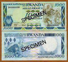 SPECIMEN, Rwanda, 1000 (1,000) Francs, 1988, P-21s, UNC
