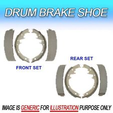 DS Fits Dodge Chrysler Edsel 2 Drum Brake Shoe Sets (Front Set&Rear Set)
