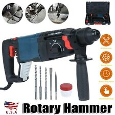 800w Heavy Duty Electric Rotary Hammer Drill Come With Sds Plus Bit Chisel Tool