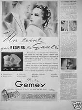 PUBLICITÉ 1936 POUDRE GEMEY LE TEINT QUI RESPIRE CRÉATION RICHARD HUDNUT