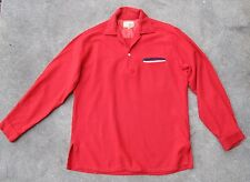 RARE Vintage 1950s LEVIS WASH & WEAR RED WOOL PULL OVER SHIRT M