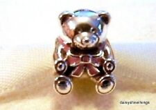 NEW! AUTHENTIC PANDORA CHARM IT'S A GIRL TEDDY BEAR #791124EN24   P