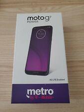 Motorola Moto G7 Power - 32GB+3GB, 6.2 HD+ Display - Marine Blue (Metro locked)