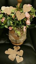 100 Heart Tags In Kraft Card - Wedding-Wish Tree Tags With Jute String MP