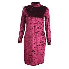 Knee Length Polyester Long Sleeve Dresses for Women