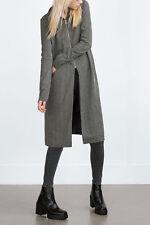 Zara size M tricot cardigan tricot veste manteau High Neck Knitted Cardigan Jacket
