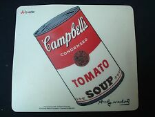 ANDY WARHOL RARE ET ORIGINAL TAPIS SOURIS CAMPBELL'S TOMATO SOUP