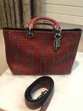 DIOR Lady Dior Red Studded Bag