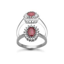 Cluster Ruby Fine Diamond Rings