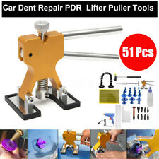 51Pcs Paintless Dent Repair PDR Tools Push Rods Hail Puller Lifter Hammer Kits