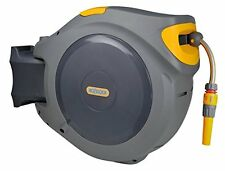 Hozelock auto rewind 40 m hose reel with connectors & fittings - colour may vary