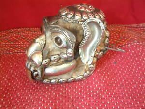 Tibetan Mystical Decorated Buddhist Sacred Monkey Skull, Life Size.