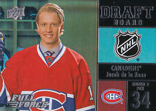 15/16 UPPER DECK FULL FORCE DRAFT BOARD JACOB DE LA ROSE CANADIENS *20901