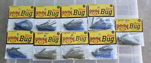 Strike King Bitsy Bug Mini Jig (Lot of 9) 1/8 and 3/16 oz.