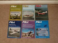 6 issues bundle of Pilot magazines from 1974 to 1976 - job lot, aeroplane plane