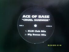 """ACE OF BASE CRUEL SUMMER ( KLM CLUB MIX ) 12"""" PROMO SINGLE EXCELLENT"""