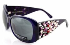 RARE New Authentic Dolce & Gabbana Purple Rhinestone Sunglasses DG 4043 G 632/87