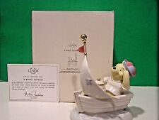 LENOX Disney A SWEET JOURNEY scupture NEW in BOX with COA Winnie the Pooh Boat