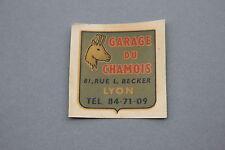 GF Chromotransfert décalcomanie Garage du Chamois Lyon 50/60's decalcomanie déco