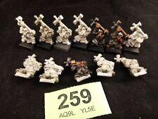 Warhammer Maurarder Dwarf Hammerers x 12 metal OOP Rare