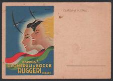 cartolina GLOMERULIO GOCCE RUGGERI PESARO g. mingozzi