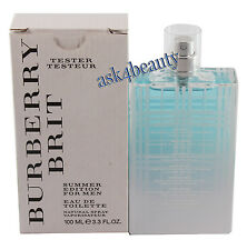 Burberry Brit Summer By Burberry 3.4oz./100ml Edt Spray For Men Nitb